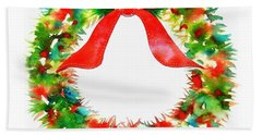 Watercolor Wreath Beach Towel