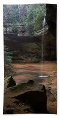 Waterfall At Ash Cave Beach Towel by Dale Kincaid