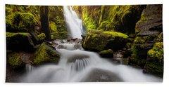 Waterfall Glow Beach Towel