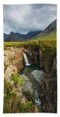 Waterfall In Coire Na Creiche The Fairy Beach Towel