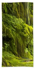 Beach Sheet featuring the photograph Waterfall In Green by Bryan Keil