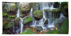 Waterfall In Marlay Park Beach Towel by Semmick Photo