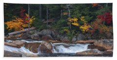 Waterfall - White Mountains - New Hampshire Beach Towel