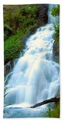 Waterfalls In Golden Gate Park Beach Sheet