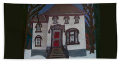 Historic 7th Street Home In Menominee Beach Towel by Jonathon Hansen