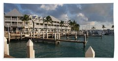 Waterfront Key West Beach Sheet by Christiane Schulze Art And Photography