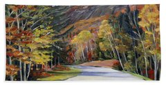 Waterville Road New Hampshire Beach Towel by Nancy Griswold