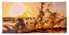 Wave Crasher La Jolla By Diana Sainz Beach Sheet