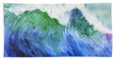 Beach Sheet featuring the painting Wave Dream by Joan Hartenstein