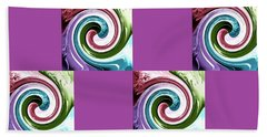 Wave Of Purple 2 Beach Towel