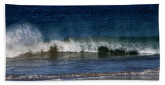 Waves And Surf Beach Towel