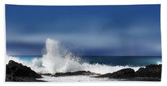 Beach Towel featuring the photograph Waves by Athala Carole Bruckner