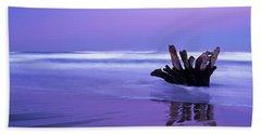 Waves Break On The Beach At Dawn Beach Towel