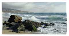 Waves - Manhattan Beach Beach Towel