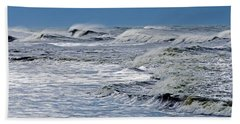 Waves Off Sandfiddler Rd Corolla Nc Beach Towel by Greg Reed
