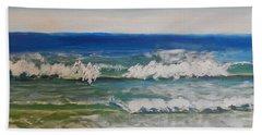 Waves Beach Sheet by Pamela  Meredith