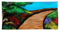 Way To The Sea Beach Towel