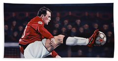 Wayne Rooney Beach Towel by Paul Meijering
