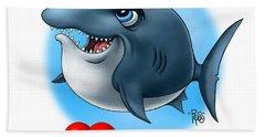 We Love Tourists Shark Beach Sheet