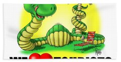 We Love Tourists Snake Beach Towel