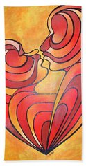 Beach Towel featuring the painting We Two Are One by Tracey Harrington-Simpson
