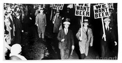 We Want Beer Beach Towel by Jon Neidert