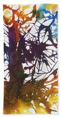 Web Of Life Beach Towel by Ellen Levinson