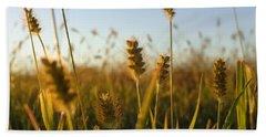 Beach Towel featuring the photograph Weeds by Joseph Skompski