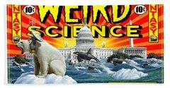 Weird Science Beach Towel