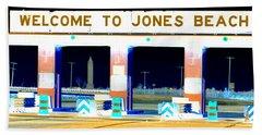 Welcome To Jones Beach Beach Towel by Ed Weidman