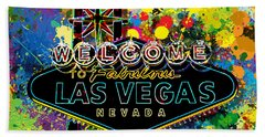 Welcome To Las Vegas Beach Towel
