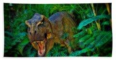 Welcome To My Park Tyrannosaurus Rex Beach Sheet
