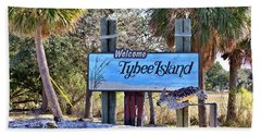 Welcome To Tybee Beach Towel by Gordon Elwell