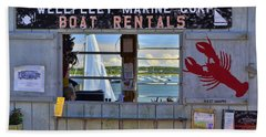 Wellfleet Harbor Thru The Window Beach Towel