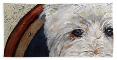 West Highland Terrier Dog Portrait Beach Towel