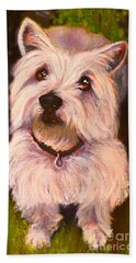 West Highland Terrier Reporting For Duty Beach Towel