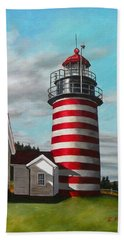 West Quoddy Head Lighthouse Beach Towel