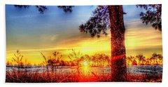 West Tennessee Sunrise Beach Towel