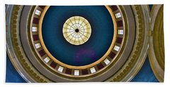 West Virginia State Capital Dome Hdr Beach Towel