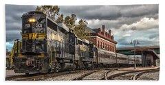 Western Maryland Scenic Railroad Beach Sheet by Jeannette Hunt