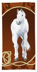 Western Roundup Standing Horse Beach Towel