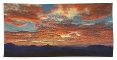 Western Sunset Beach Towel by Mark Greenberg