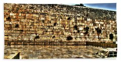 Beach Towel featuring the photograph Western Wall In Israel by Doc Braham