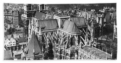 Westminster Abbey In London Beach Towel by Underwood Archives