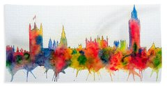 Westminster And Big Ben Skyline Beach Towel