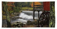 Weston Grist Mill Beach Towel by Priscilla Burgers