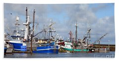 Westport Fishing Boats 2 Beach Towel by Chalet Roome-Rigdon