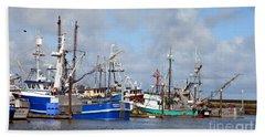 Westport Fishing Boats 2 Beach Towel