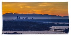 Beach Sheet featuring the photograph Gateway To Seattle by Ken Stanback