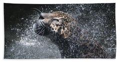 Wet Jaguar  Beach Towel